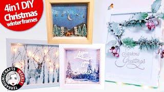DOLLAR TREE DIY, CHRISTMAS CRAFTS, Dollar Tree Frame DIY Ideas, Dollar Tree Christmas DIY
