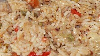 рассыпчатый рис с овощами