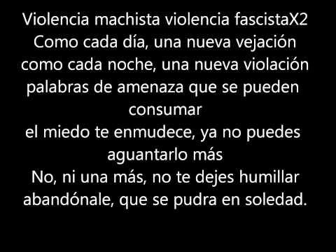 Violencia Machista ska-p (letra)