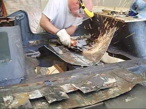 Replacing rear floor panel