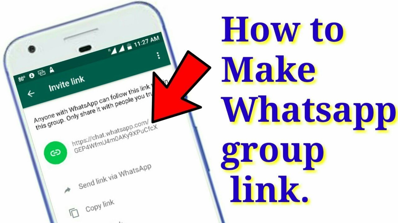 Whatsapp group का Link कैसे निकलते है । How do the links of the Whatsapp  group come out