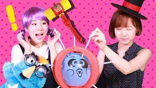 웃긴 분장벌칙 ㅋㅋ 파랑이와 함께 초긴장 폭발풍선 보드게임 첼린지 2편 LimeTube & Toy 라임튜브