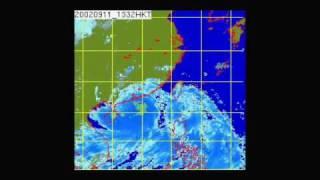 2002年 黑格比 (衛星雲圖)