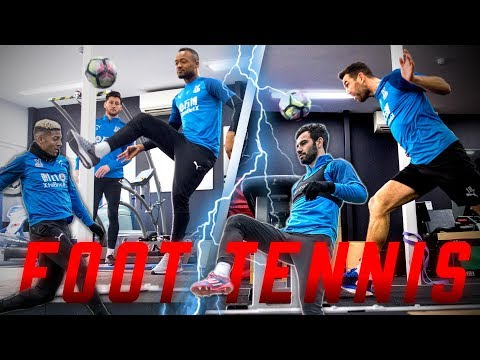 FOOT TENNIS WITH CRYSTAL PALACE FIRST TEAM IN THE GYM!