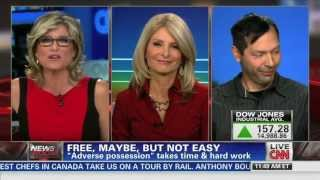 Steven DeCaprio and squatting on CNN with Ashleigh Banfield