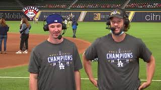 Clayton Kershaw and Walker Buehler talk Dodgers World Series win