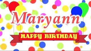 Happy Birthday Maryann Song