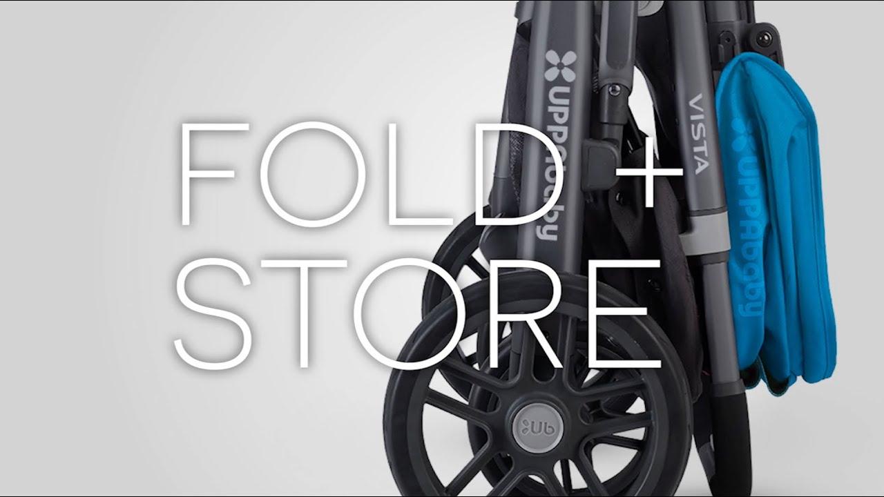 UPPAbby VISTA Stroller - Fold + Store - YouTube