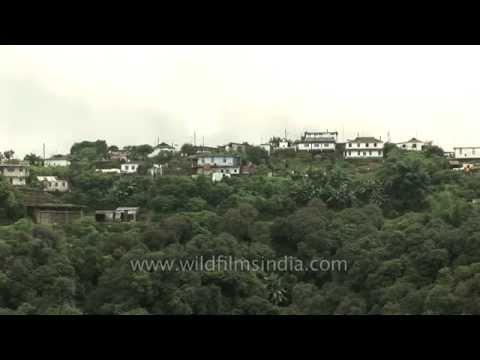 Aerial view of Cherrapunji town