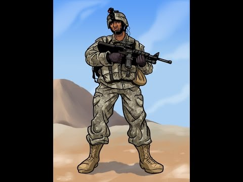 تعليم رسم جندي يحمل بندقية Youtube