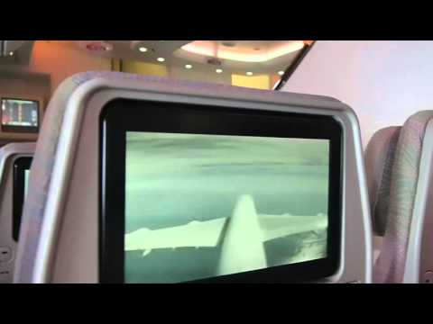 Faulty tail camera feed on Emirates Airline Airbus A380-861 3 class version 2