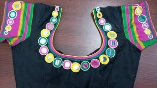 Watch Now New Kids Glass And Mirror Work Blouse Neck