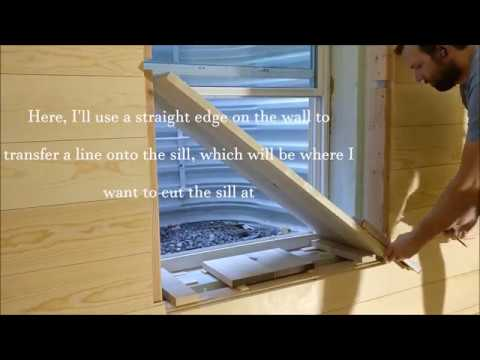 building and installing window jamb with casing sill and apron rh youtube com how to build a basement window frame how to build a basement window casing