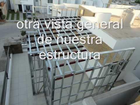 Construccion ligera con tablacemento 5 youtube for Catedrales para techos de casas