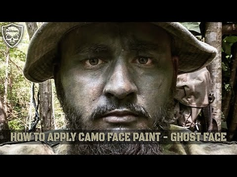 How To Apply Camo Face Paint - Ghost Face - Starfish Method