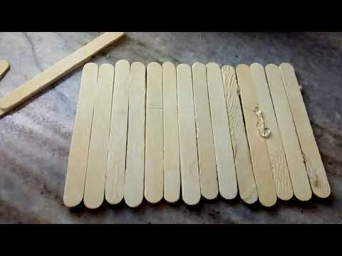 DIY craddle with Popsicle sticks
