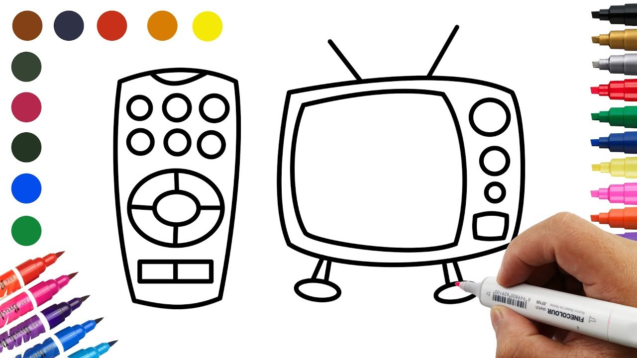 How to Paint an Old TV and Remote Control Panel Coloring Old TV ...