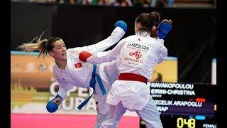 Serap Özçelik Arapoğlu (TUR) - E. Christina Kavakopoulou (GRE) - Karate1Dubai - Final Kumite -50 Kg