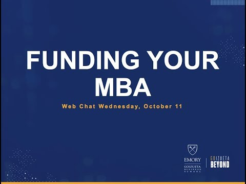 Web Chat Wednesday | Funding Your MBA