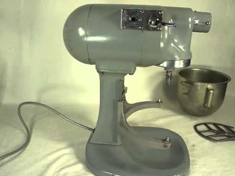 kitchen aide dishwasher small remodeling ideas vintage hobart n50 5 quart stand mixer - youtube
