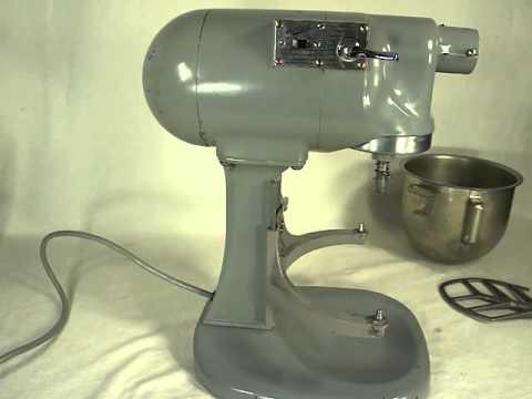 Vintage Hobart N50 5 quart stand mixer  YouTube