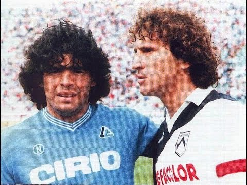 S.S.C. Napoli - Udinese Calcio SpA 1985-05-12 Maradona vs Zico