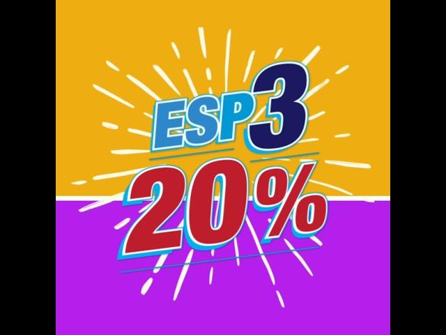 ESP-3 20% Promoción!
