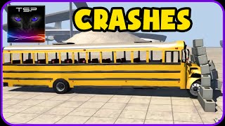 BeamNG drive - School Bus - CRASHES & DESTRUCTION