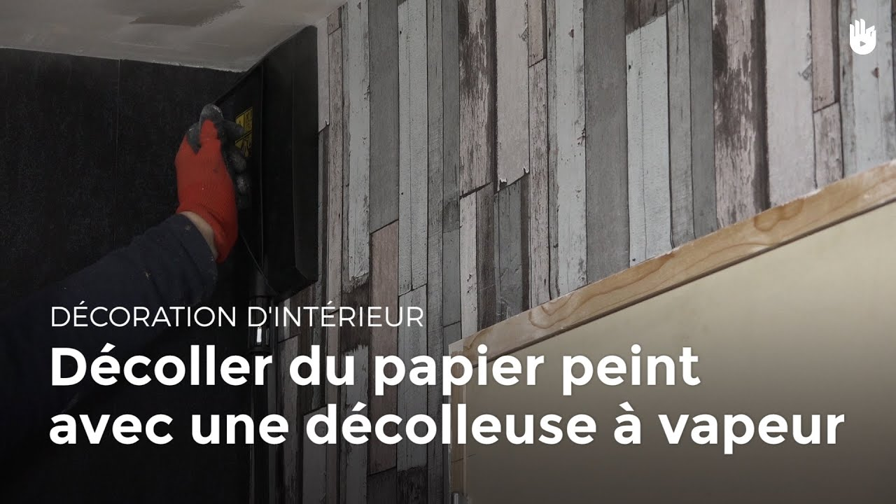 d coller du papier peint avec une d colleuse vapeur bricolage youtube. Black Bedroom Furniture Sets. Home Design Ideas