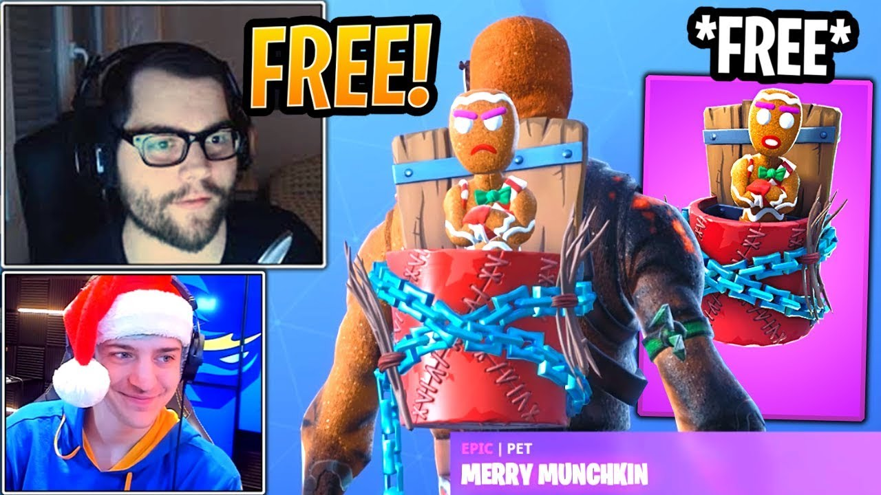 streamers-react-to-free-new-merry-munchkin-pet-fortnite-best-and-funny-moments