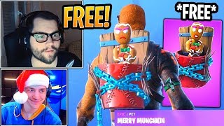 Streamers React to *FREE* New Merry Munchkin Pet! - Fortnite Best and Funny Moments