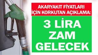 BENZİNE 3 TL ZAM GELİYOR