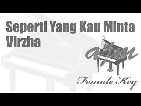 Virzha - Seperti Yang Kau Minta (Female Key) Karaoke | Ayjeeme Karaoke