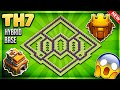 BRAND NEW BEST TOWN HALL 7 (TH7) HYBRID/TROPHY BASE DESIGN 2018-Clash Of Clans