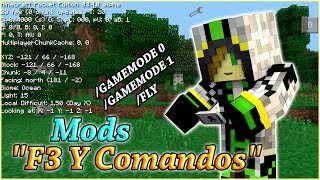 Mods F3 Y Comandos Mod| Mods Útiles Para Minecraft PE 0.14.0