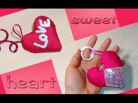 DIY heart keychain - DIY friendship keychain  - Easy handmade gift.