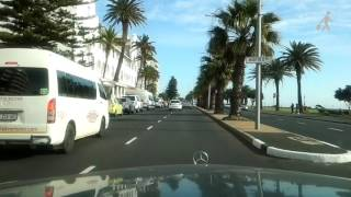 Driving on Beach Road, Sea Point, Cape Town