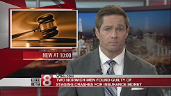 Two men convicted for staging car accidents for insurance fraud