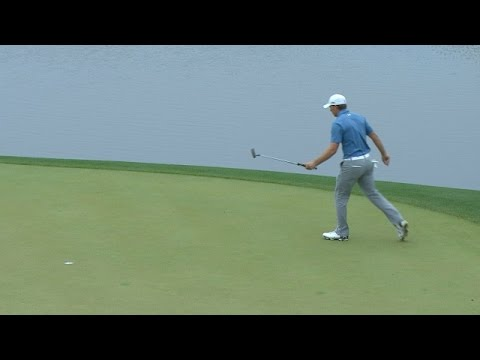 Jordan Spieth's impressive up and down to join playoff at Shell