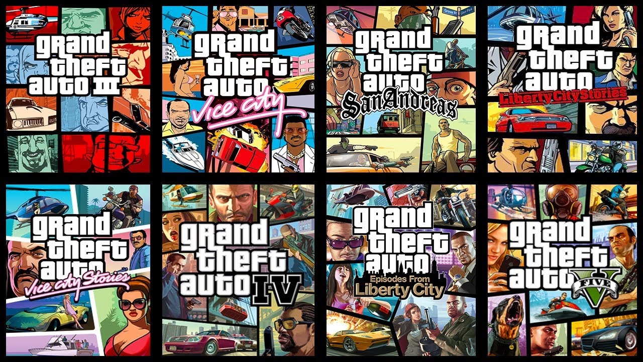 Image result for all the grand theft auto games