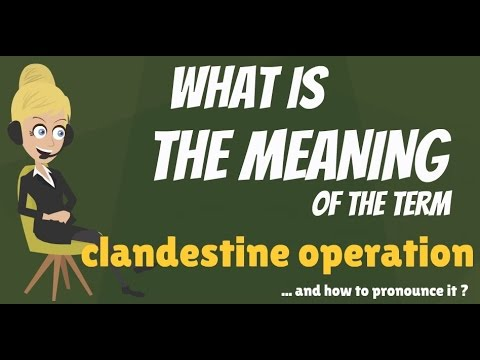 What is CLANDESTINE OPERATION? What does CLANDESTINE OPERATION mean?