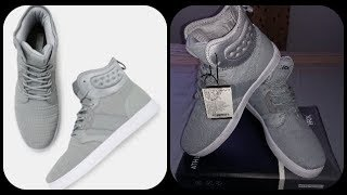 HRX by Hrithik Roshan Men Grey High-Top Casual Shoes Unboxing
