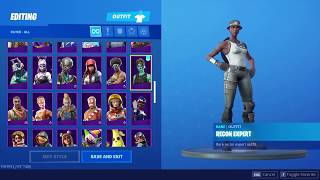 Seeing a fortnite account with rare skins (elf, Renegade, zombie, etc...)