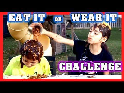 EAT IT or WEAR IT CHALLENGE | Super Messy Challenge | KidToyTesters