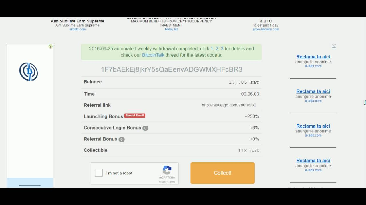 Best faucet ever, win lots of satoshi daily - YouTube