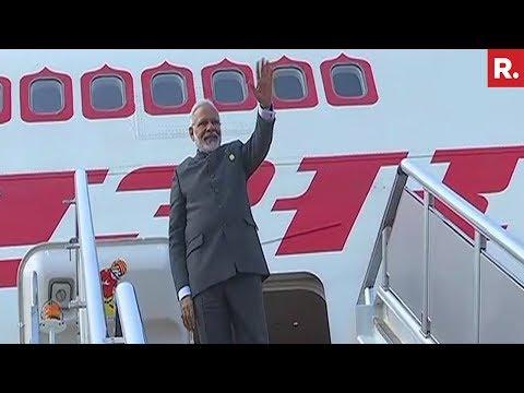 PM Narendra Modi Leaves China For Myanmar