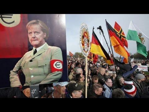 La marche anniversaire de Pegida à Dresde
