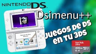 Como  jugar juegos de Ds en tu 3Ds desde una memoria sd con DsiMenu++