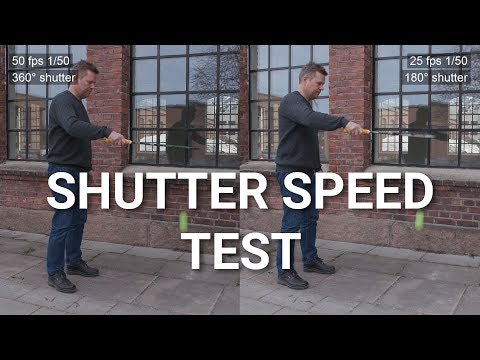 How frame rate and shutter speed affects your video