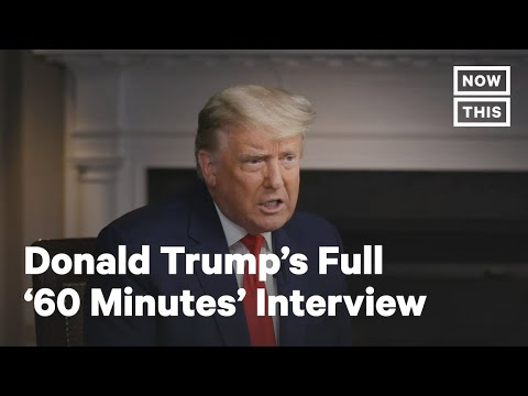 CBS releases footage of Trump walking out of 60 Minutes interview
